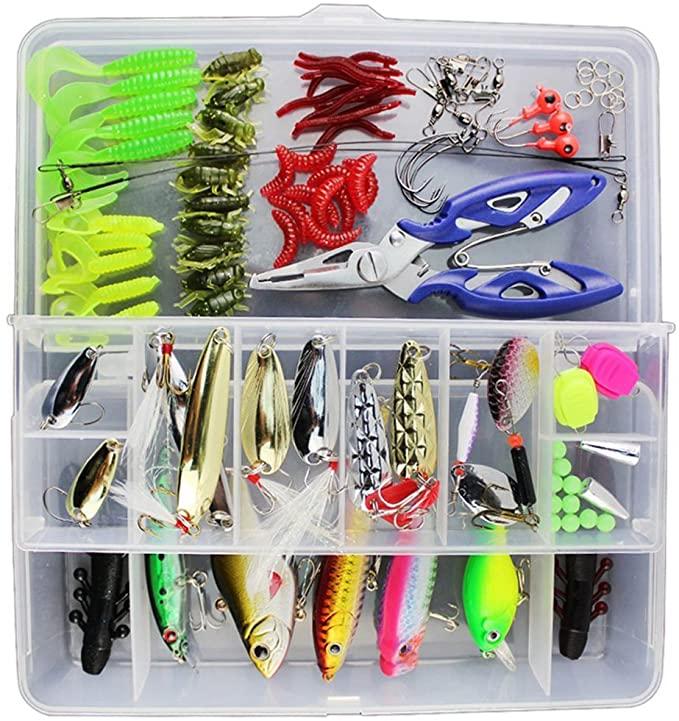 Kit de 120 piezas de señuelos de pesca