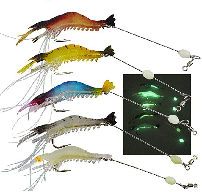 Señuelo de pesca camarón biónico luminoso