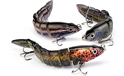 Señuelos de pesca articulados con anzuelo